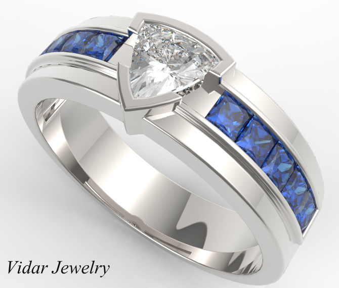 Mens Wedding Rings With Blue Shire Image Of Ring Enta