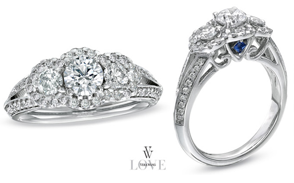 Buy Cheap Vera Wang Engagement Ring With Sapphire Price Pretty Jewelry