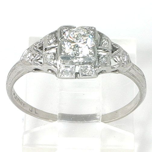 Vintage Platinum Wedding Rings Photo 1
